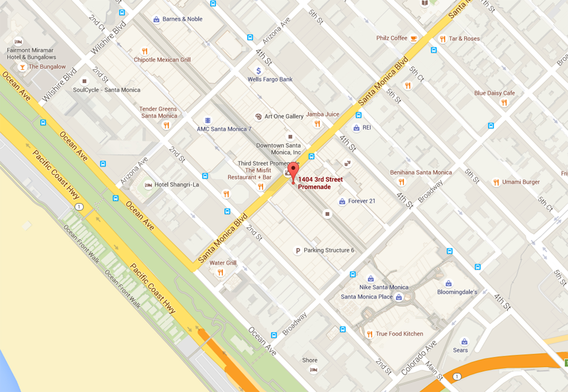 map to Santa Monica Street Map on westwood santa monica map, hotel santa monica map, santa monica tourist map, 7984 santa monica blvd map, santa monica street parking, ucla santa monica map,
